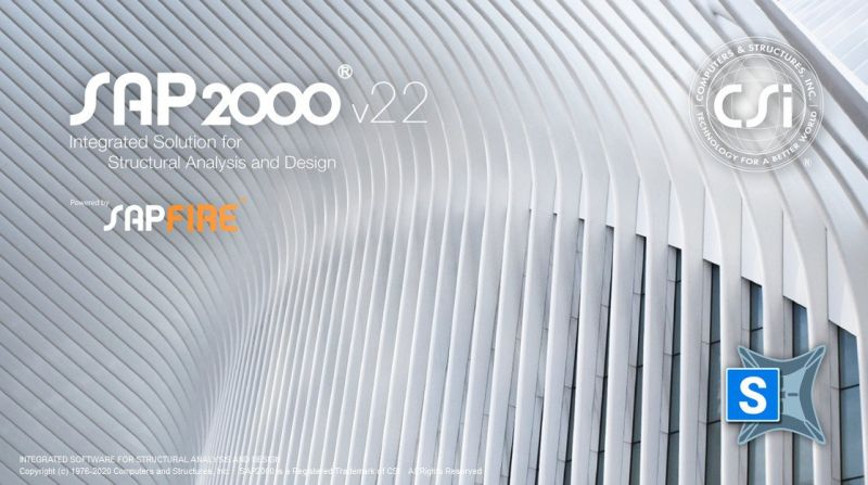 CSI SAP2000 Ultimate 22.2.0 Build 1663 Software for structural analysis and design