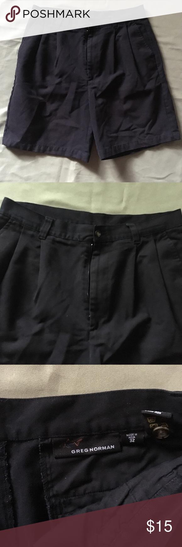 Greg Norman Black Golf Boating Shorts Men S 32 How To Wear Mens Shorts Gym Shorts Womens