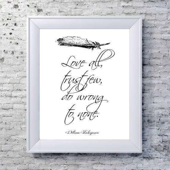 White+Shakespeare+Quote+Literary+Quote+by+NeverMorePrints+on+Etsy,+$15.00