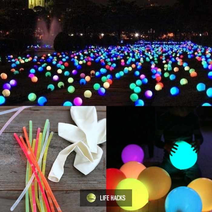 Glow Sticks Balloons For A Cool Party Life Hacks Carnival Party Decorations Glow Party Party Decorations