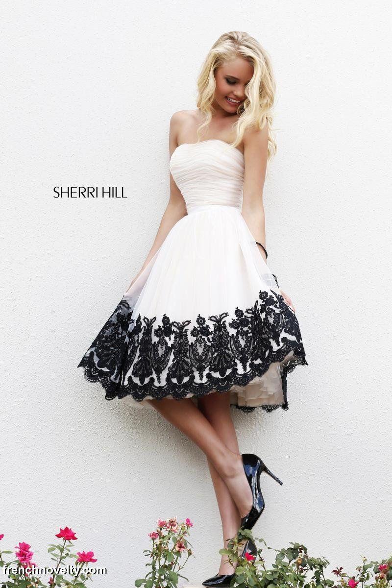 Sherri hill tea length lace prom dress high low dresses