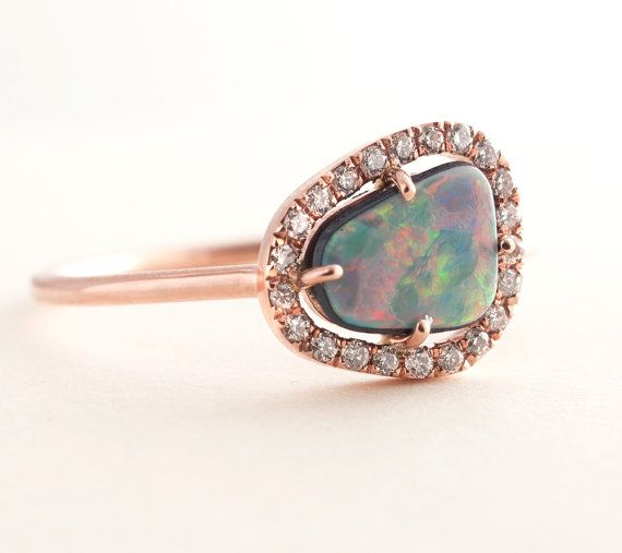 F/&F Ring Fashion White fire Opal Shining Rings For Women Wedding Ring Engagement Bridal Rings