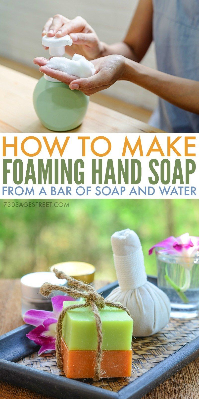 Learn how to make foaming hand soap with only two