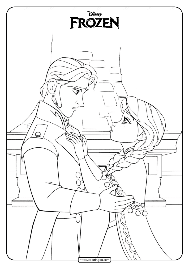 Disney Frozen Anna And Hans Coloring Pages Frozen Coloring Pages Frozen Coloring Disney Coloring Pages