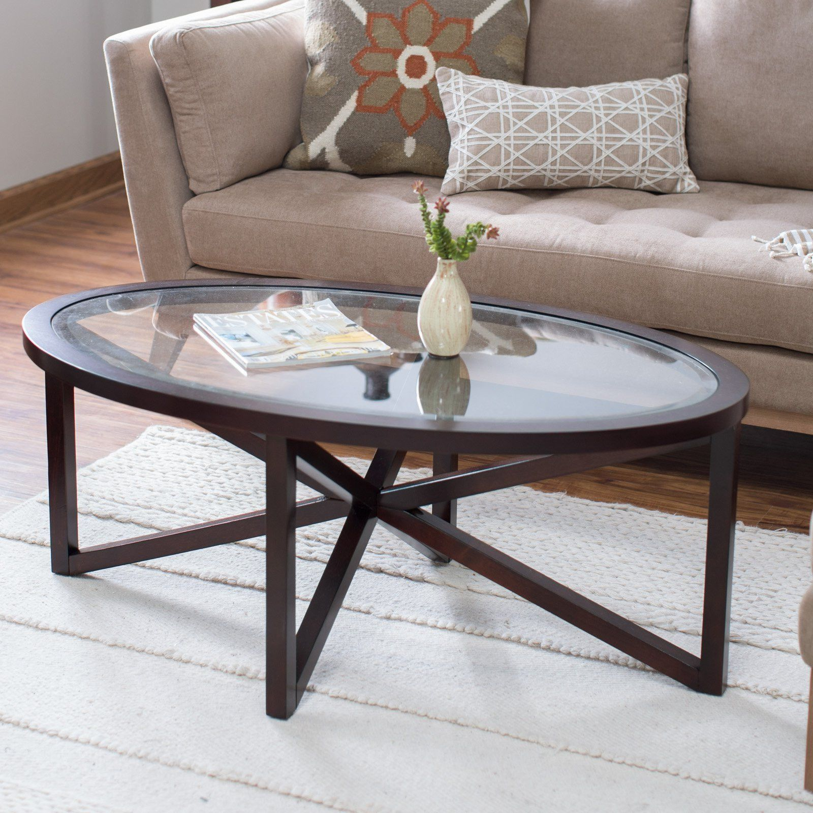 Webster Oval Coffee Table Coffee Table Oval Coffee Tables Contemporary Coffee Table [ 1600 x 1600 Pixel ]
