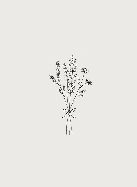 Photo of Illustration de bouquet de fleurs sauvages botaniques par Ryn Frank #flowertattoos – tatouages de fleurs
