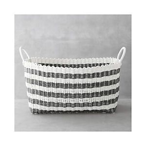 Pretty Laundry Baskets Extraordinary Greywhite Stripe Laundry Hamper  Home  Pinterest  Laundry Hamper Inspiration