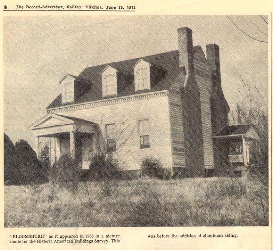 Old Halifax County, VA, Formerly Lunenburg County, Along