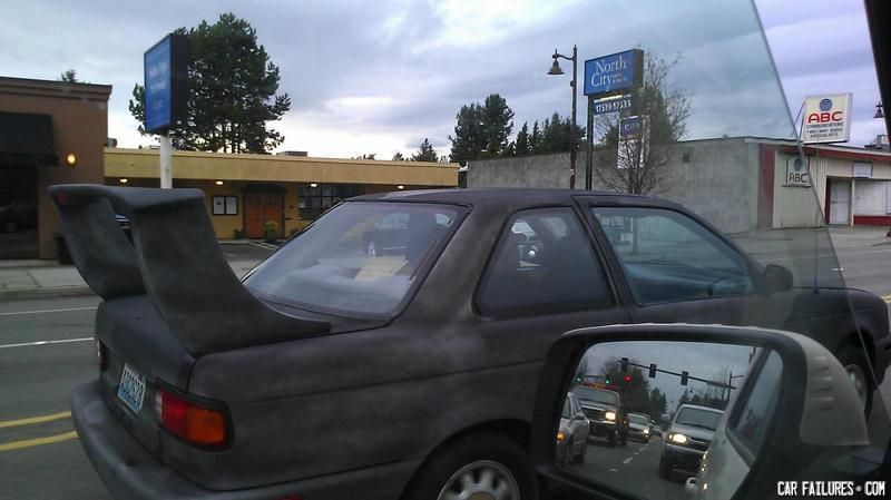 Some people find this spoiler sexy. | Car Failures | Pinterest | Cars