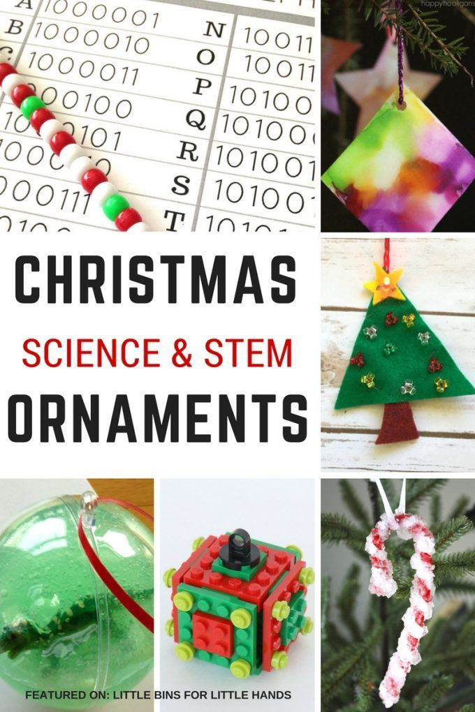 STEM Inspired Christmas Science Ornaments for Kids