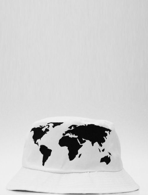 0ab200b2ff1 world map bucket hat