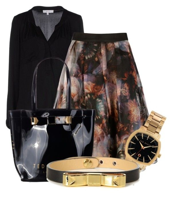 """""""Untitled #1327"""" by lchar ❤ liked on Polyvore featuring Milly and Ted Baker"""