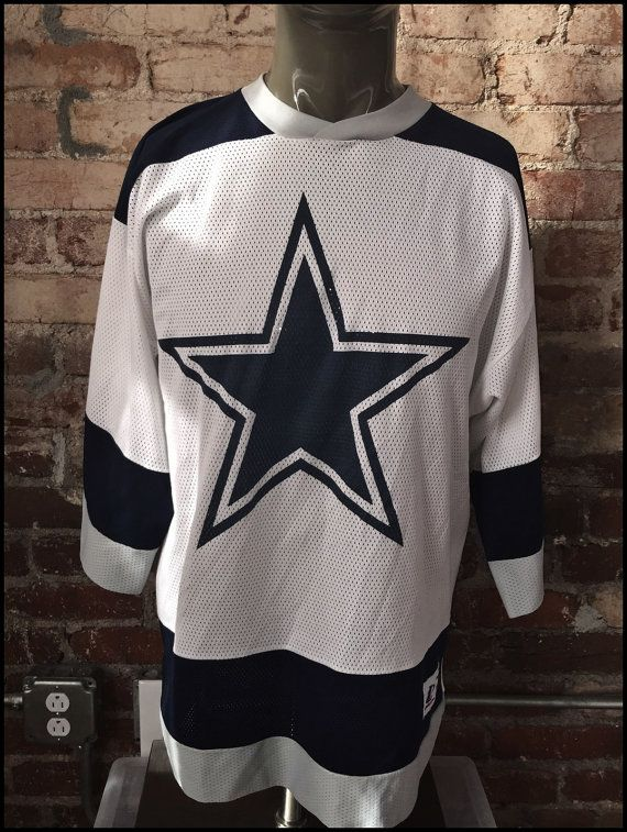 Wholesale Vintage 90's NFL Dallas Cowboys Logo Hockey Jersey by  for cheap