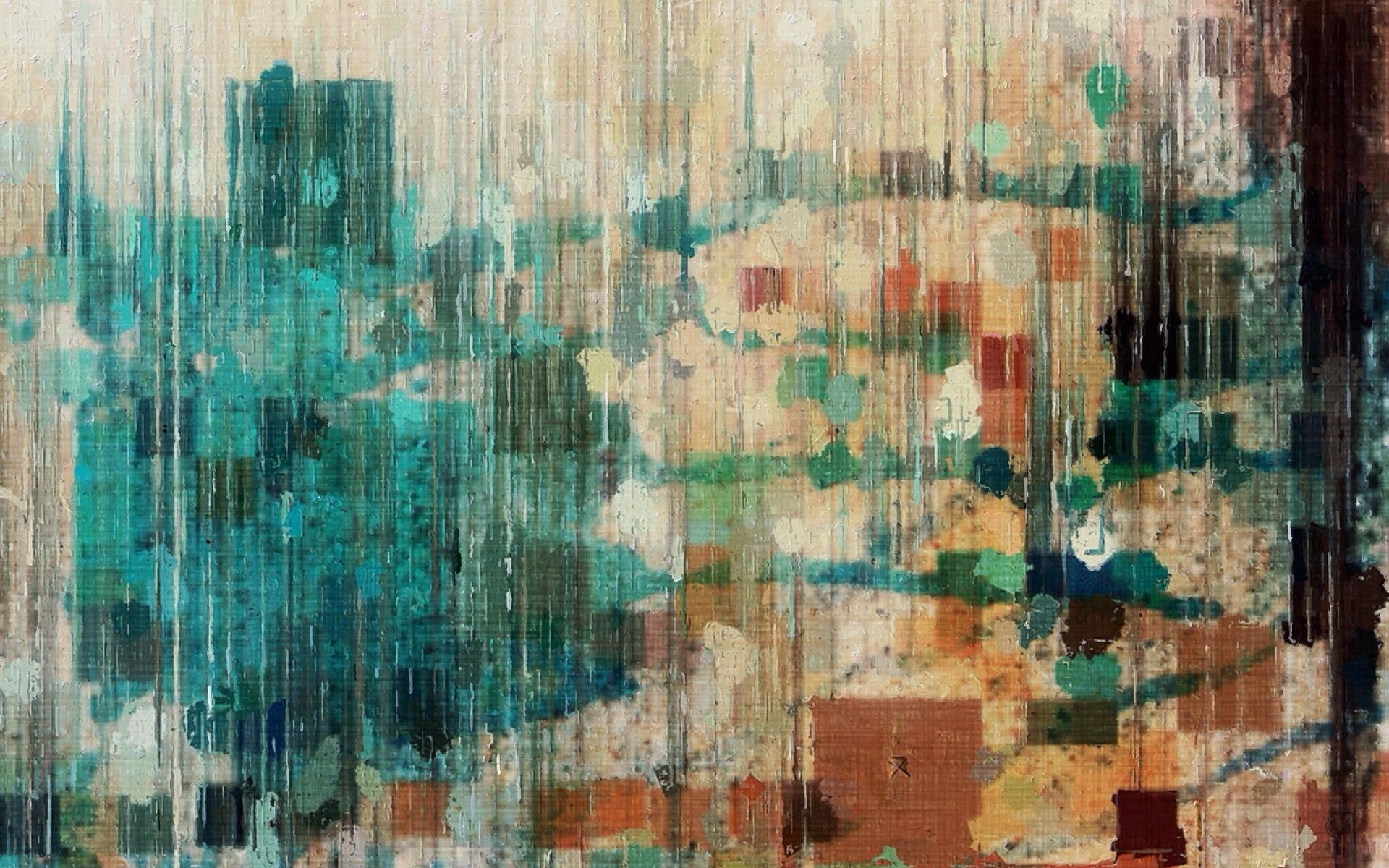 monotype print, wall, colors, texture, blue, background