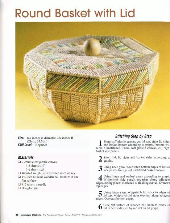 Home Style Baskets Plastic Canvas Plastic Canvas Patterns Plastic Canvas Crafts