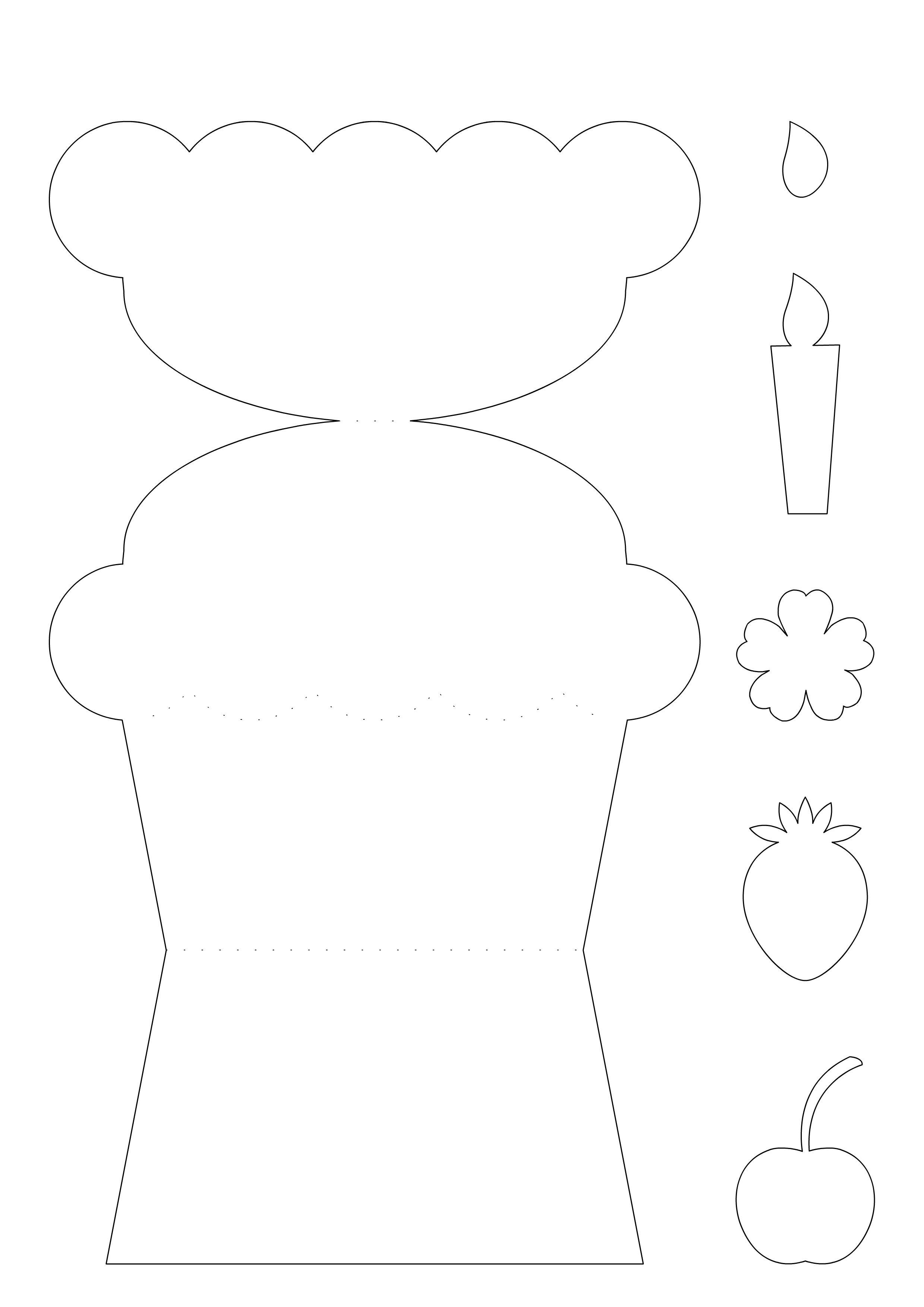 Открытка кекс шаблон