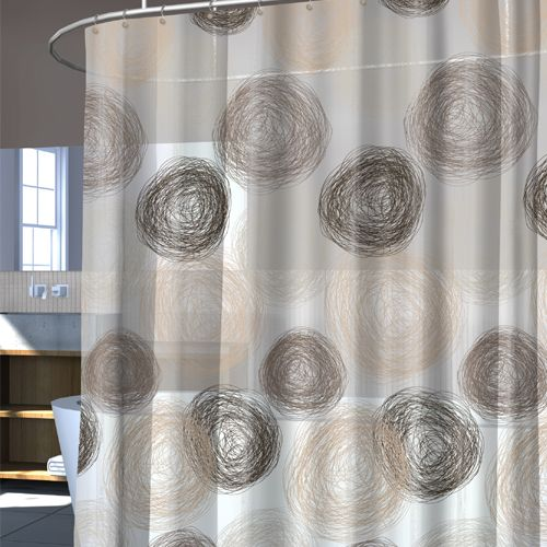 Coil Shower Curtain Hazel Strong And Durable Vinyl O Made Of Ethylene Acetate Odorless PVC Free Mold Allergy Resistant