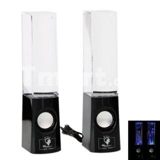 LED Light Dancing Water Speaker Creative Music Box USB for PC Laptop MP3 MP4 Cell Phone Black,$27.52