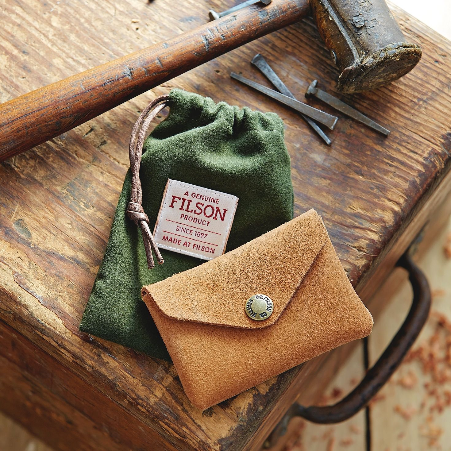 e4b6715f0946 www.Filson.com | The Rugged Suede Snap Wallet | W E A R in 2019 ...