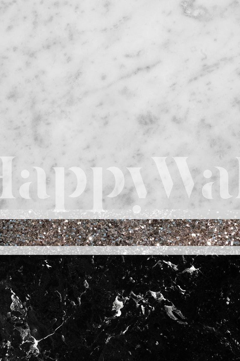 Marble Silver Glitter Stripe 1 Wallpaper From Happywall Com Baski