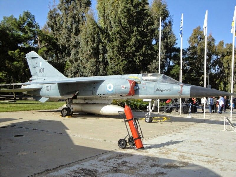 Greek Mirage F-1 at the Hellenic Air Force museum.