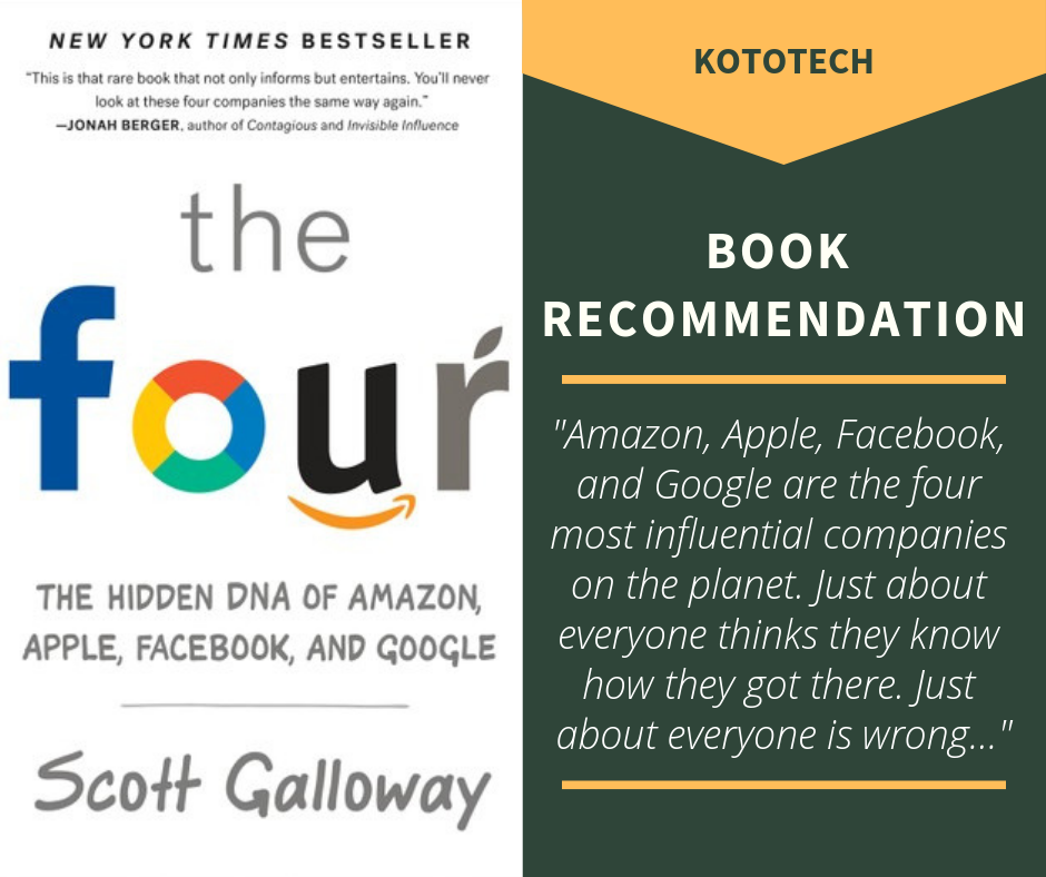 The Four Book Recommendation By Kototech Book Recommendations Books This Book