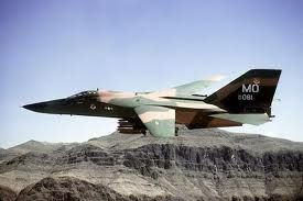 F-111A (from Mountain Home AFG) carrying 24 500 lb bombs