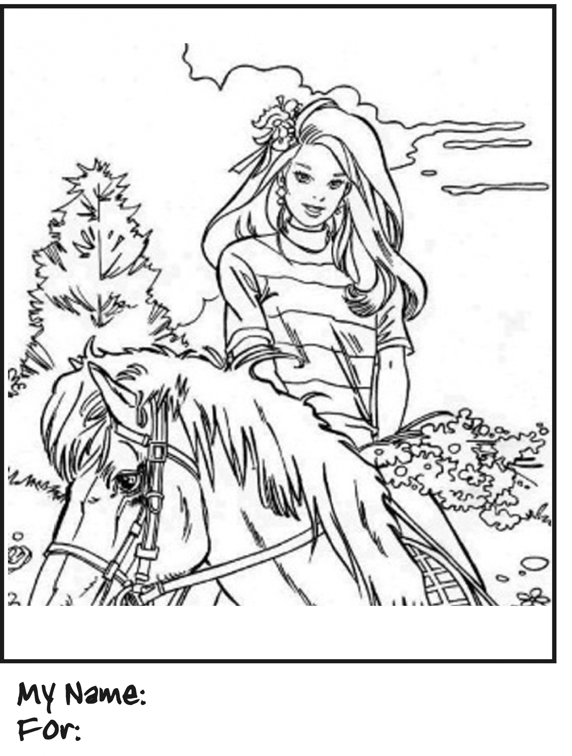 Barbie Horse Coloring Page Youngandtae Com Horse Coloring Pages Horse Coloring Barbie Horse [ 2560 x 1938 Pixel ]