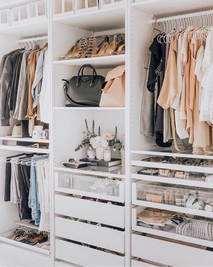 Maximize Your Wardrobe Area With These Useful Wardrobe Organization Concepts We Bedroom Organization Closet Closet Layout Closet Decor