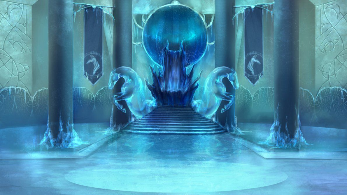 Frozen palace background  Frightmare Frost castle throne room by ElkaArtviantart on