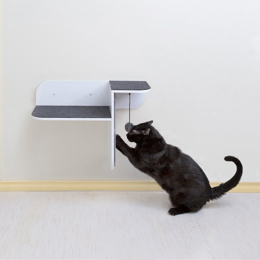 Hauspanther modern cat furniture wall mounted cat perch free shipping and tax included on all modern cat furniture no hidden fees on our website