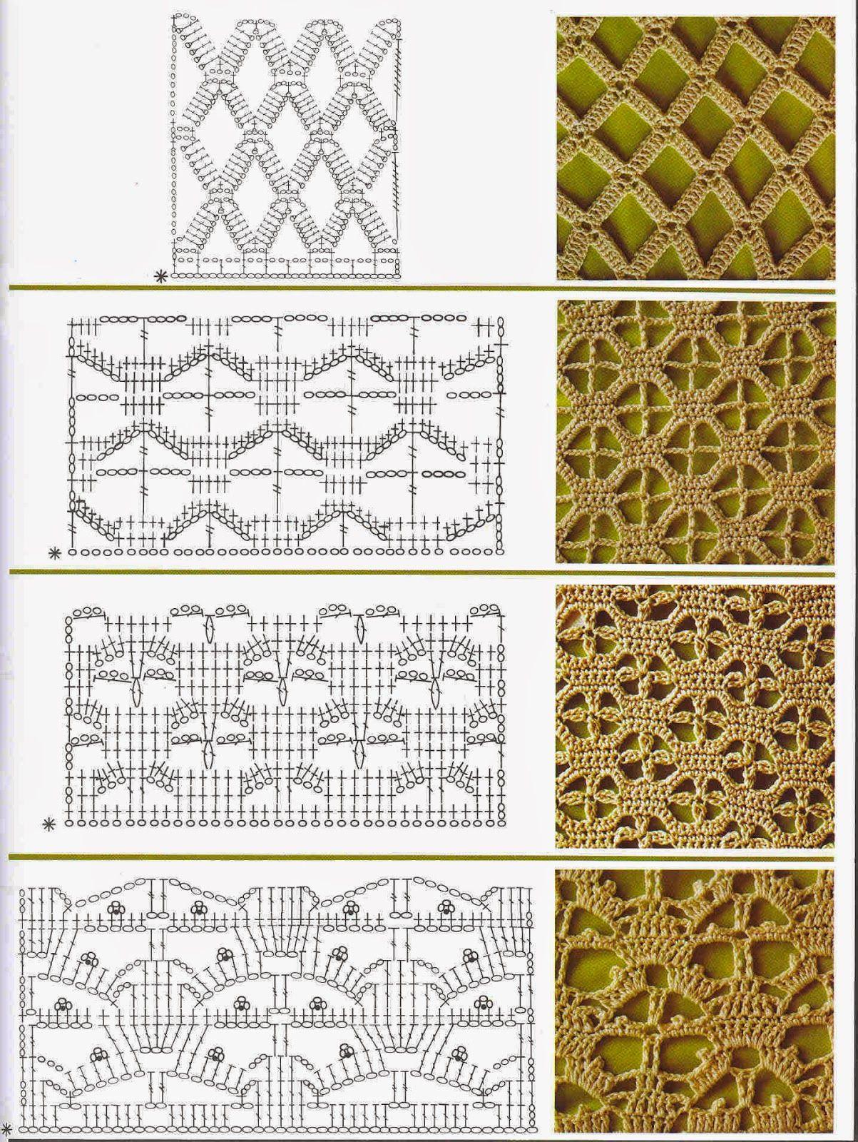 ❤ ✿ Mi Rincón del Tejido ✿ ❤: Puntos Fantasía a Crochet ...