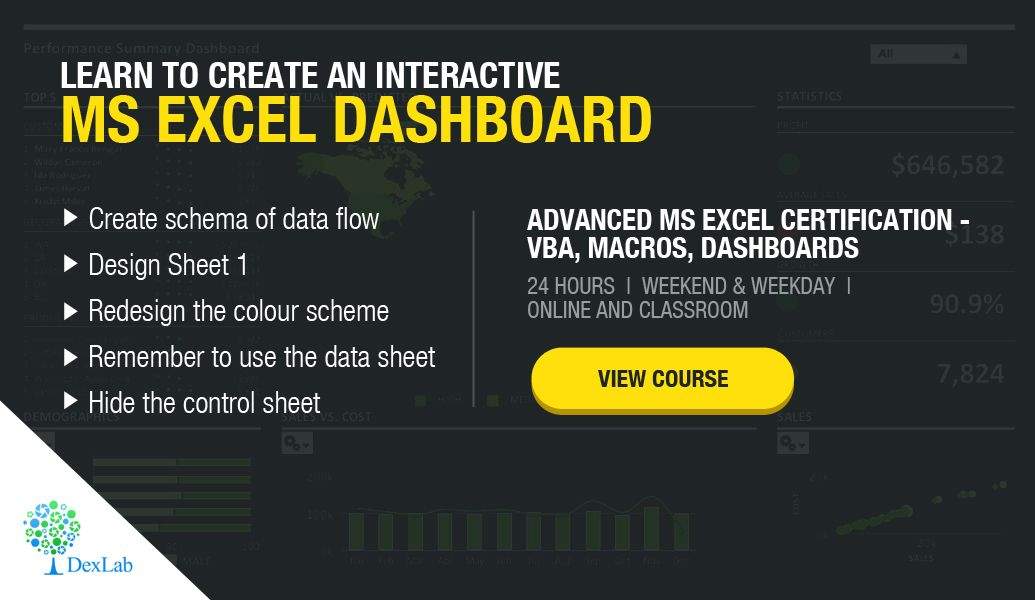 online ms excel certification dexlab analytics microsoft excel