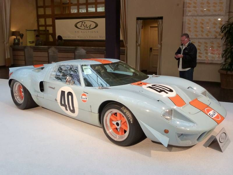 1968 Ford GT40 Gulf/Mirage Lightweight Racing Car, Body by ; S/N P ...