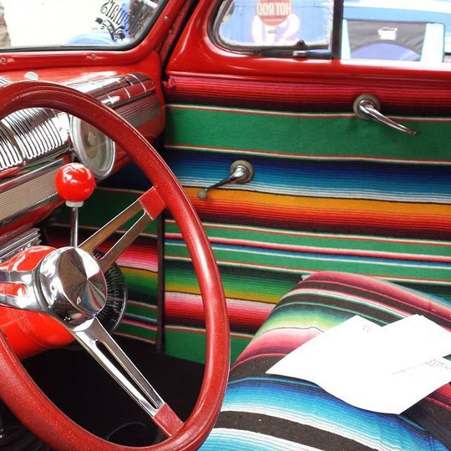 Colorful Car Interior Chevy Bel Air Classic Car Restoration Bel Air
