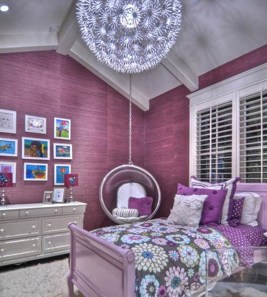 Decorating purple bedroom ideas for girls better home - Stuff for girls rooms ...