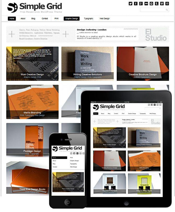 SIMPLE GRID THEME RESPONSIVE | Wordpress Themes | Portfolio web