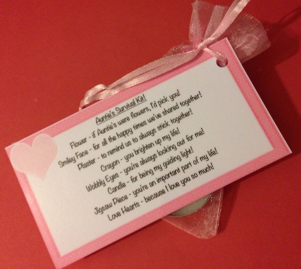 25 Best Ideas About Teacher Survival Kits On Pinterest: Auntie S Survival Kit! Fun, Novelty Gift For Aunt Birthday