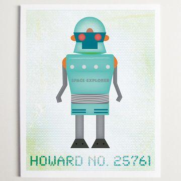 Robot Howard Print