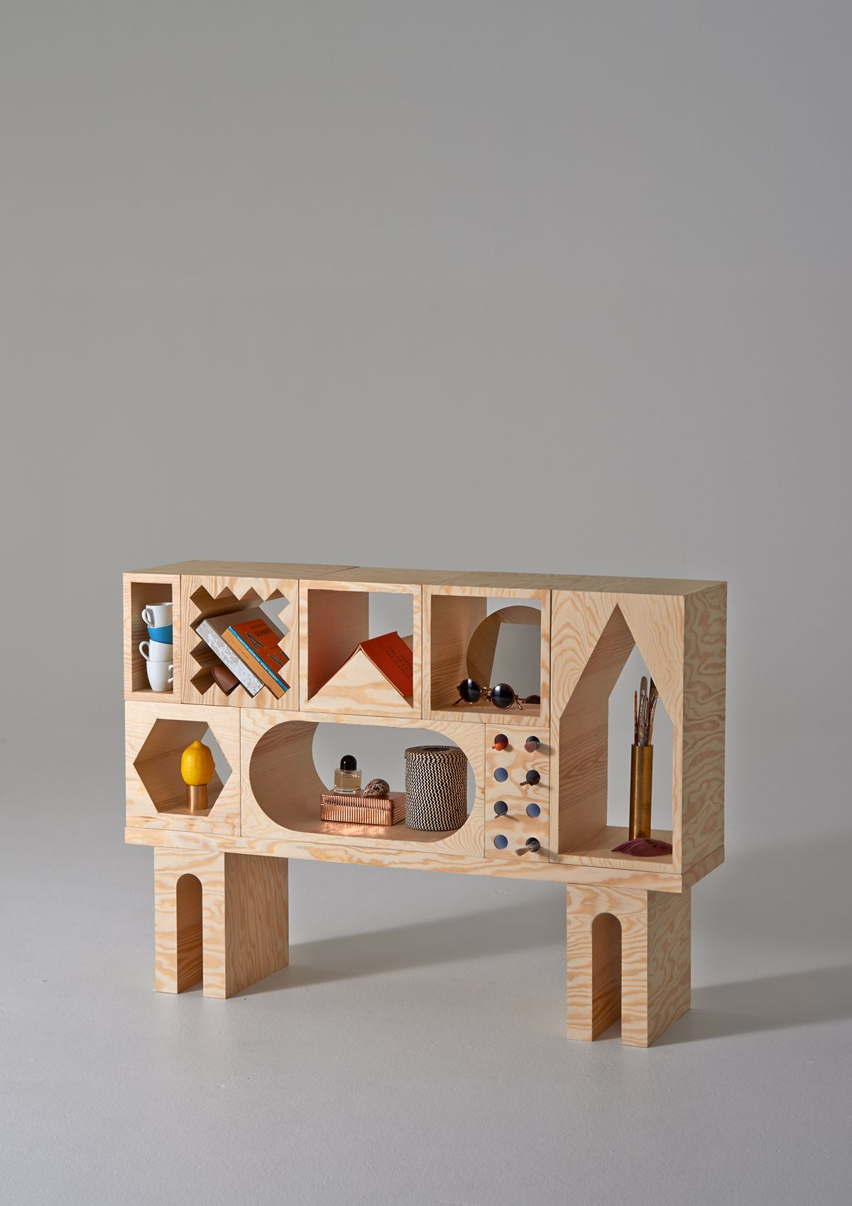 Playful furniture inviting you to fill in the voids room collection