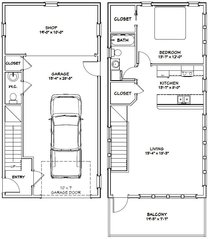 Pdf House Plans, Garage Plans, & Shed Plans. | Homes | Pinterest