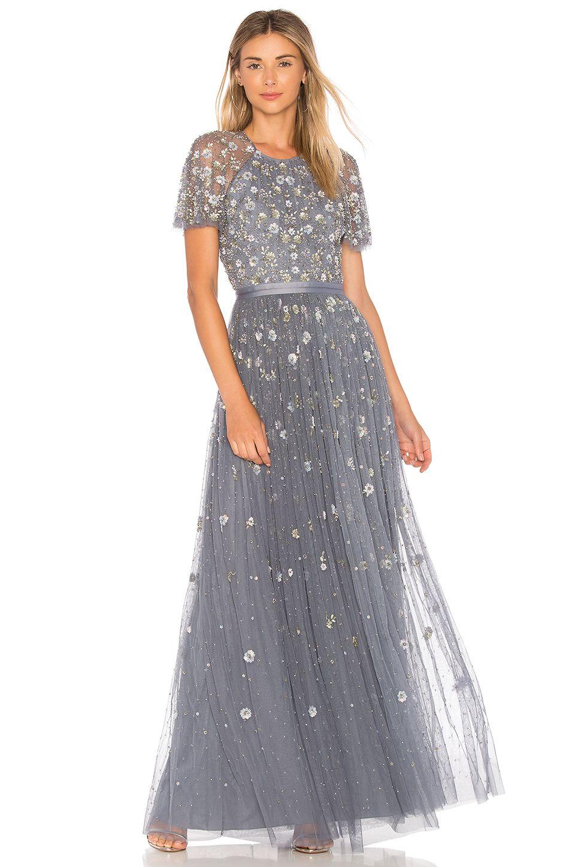 Needle u thread comet gown in vintage blue needle u thread