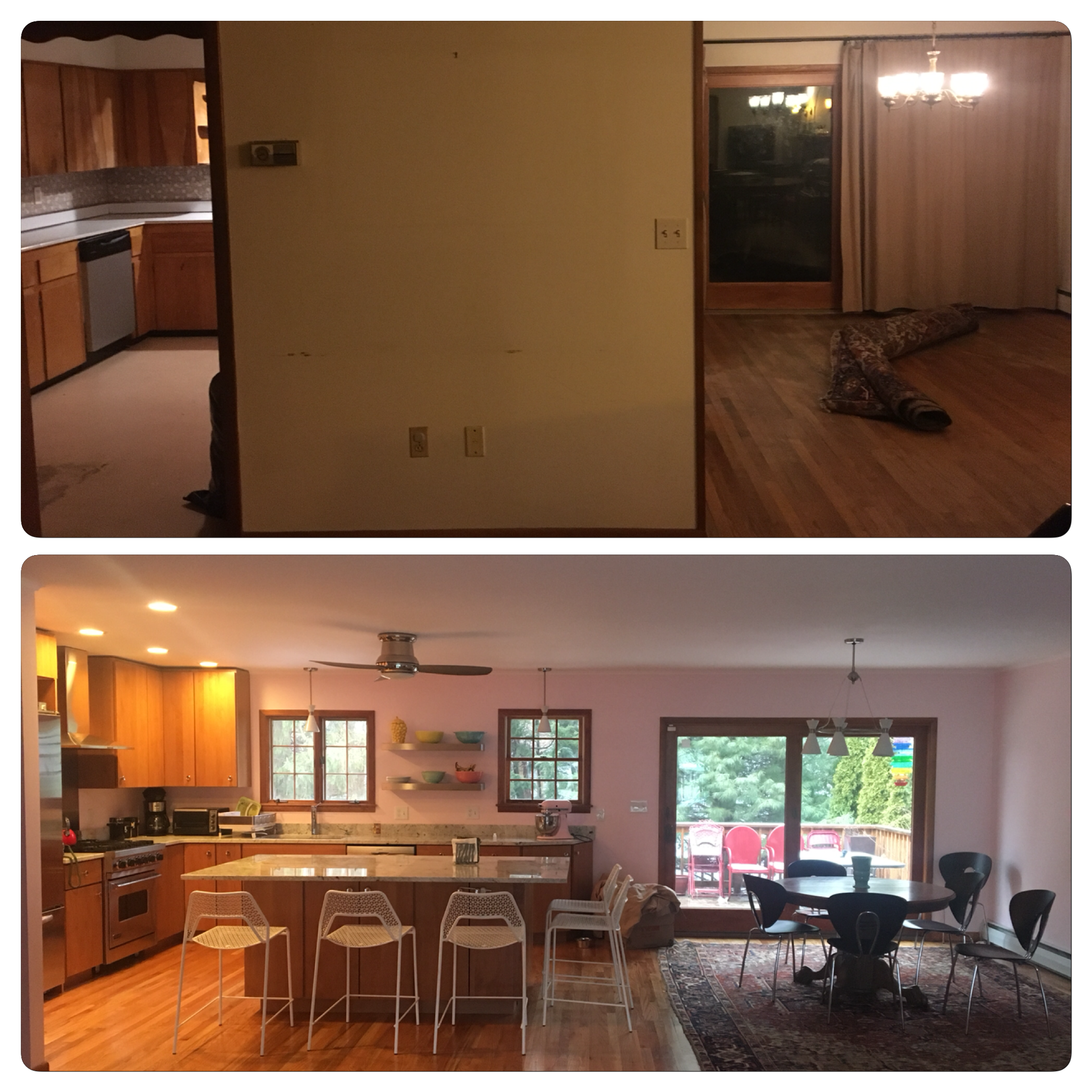 Before and After Split Level Kitchen Remodel With Benjamin Moore