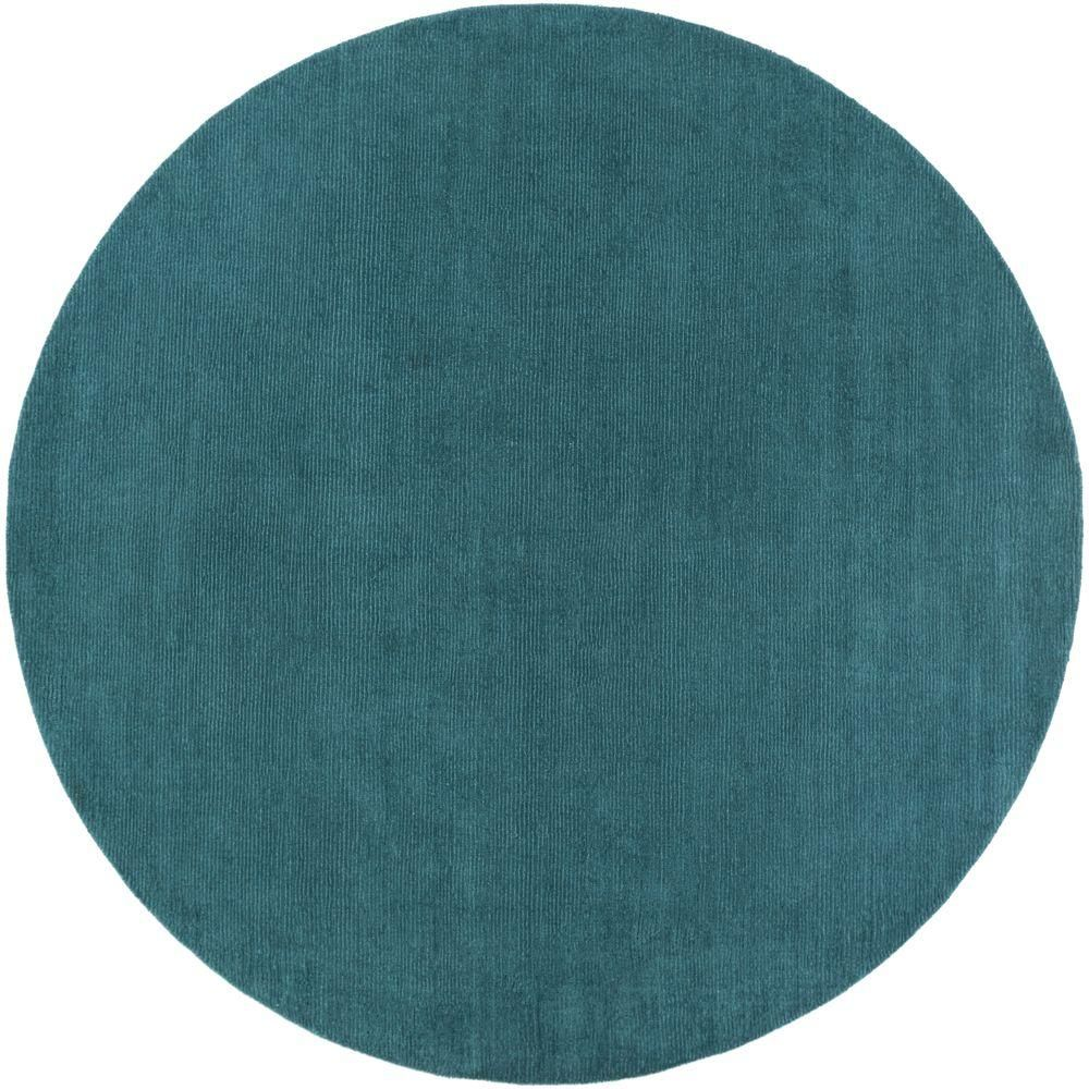 Falmouth Teal (Blue) 9 ft. 9 in. x 9 ft. 9 in. Round Indoor Area Rug