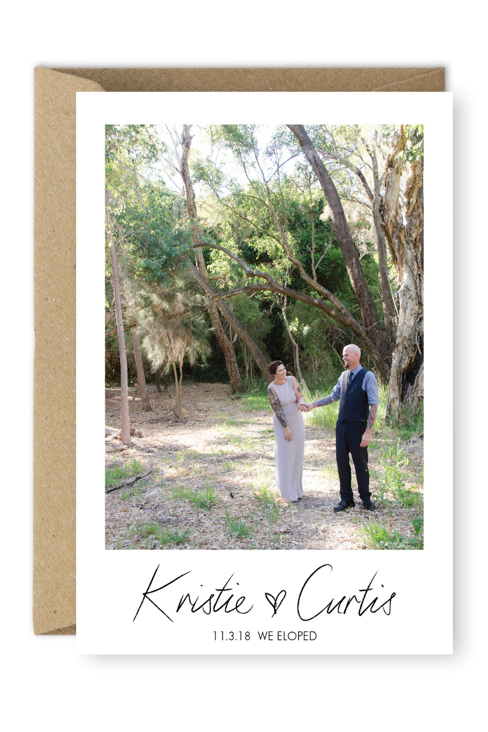 brides are going crazy for these elopement announcements before