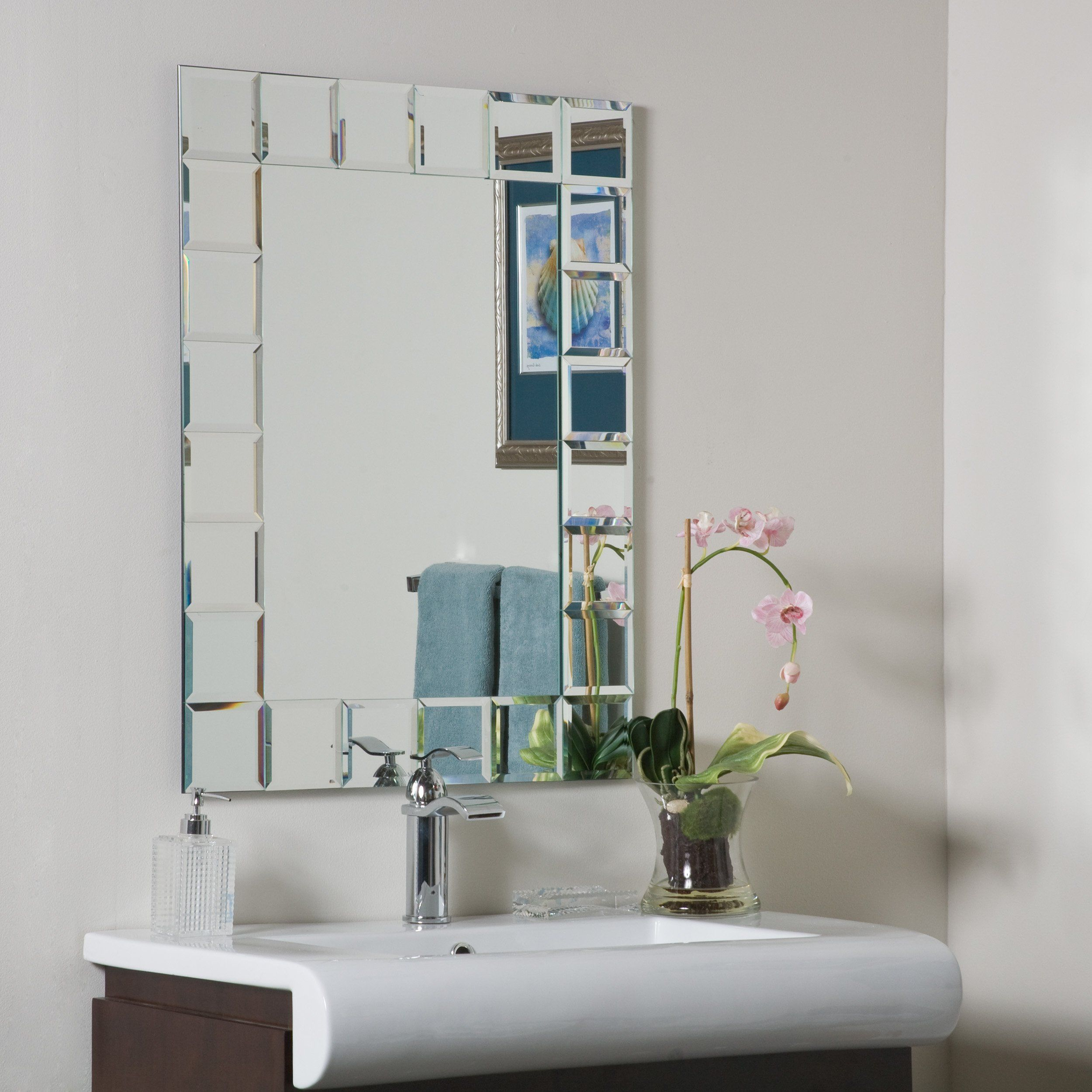 Decor Wonderland Montreal Modern Bathroom Mirror. Crafted from 2 ...