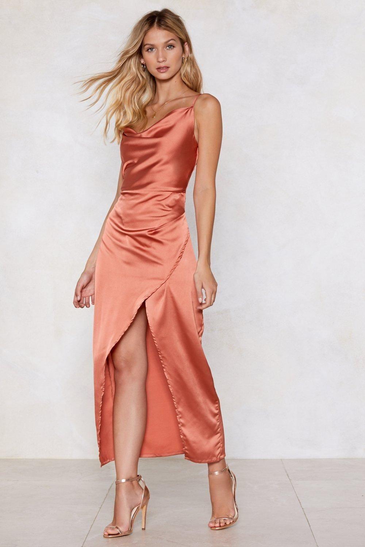 Cowl Play Satin Dress   Shop Clothes at Nasty Gal!