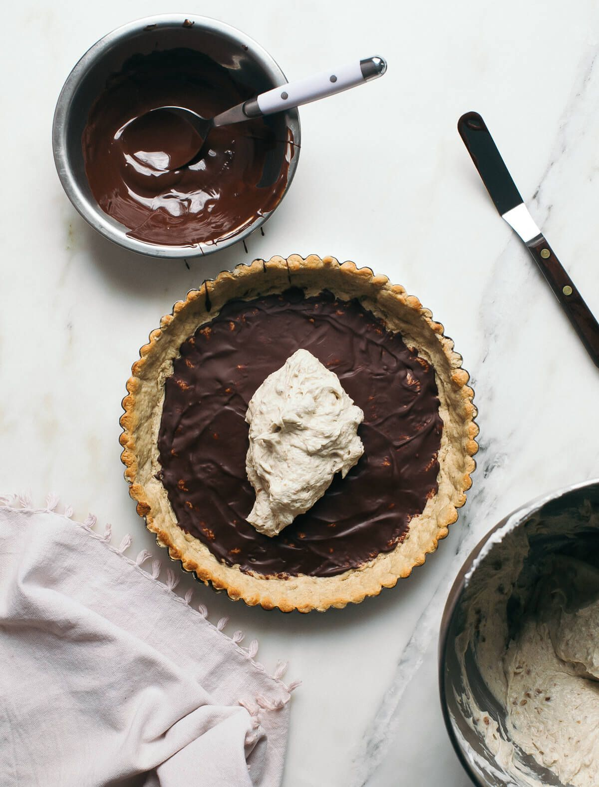 Nut Butter Coconut Chocolate Tart Recipe (With images