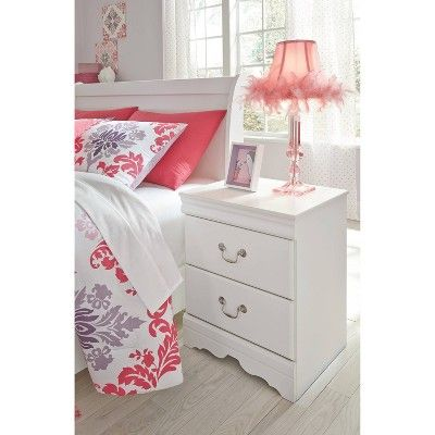 Best Anarasia Nightstand White Signature Design By Ashley Furniture Bedroom Night Stands White 400 x 300