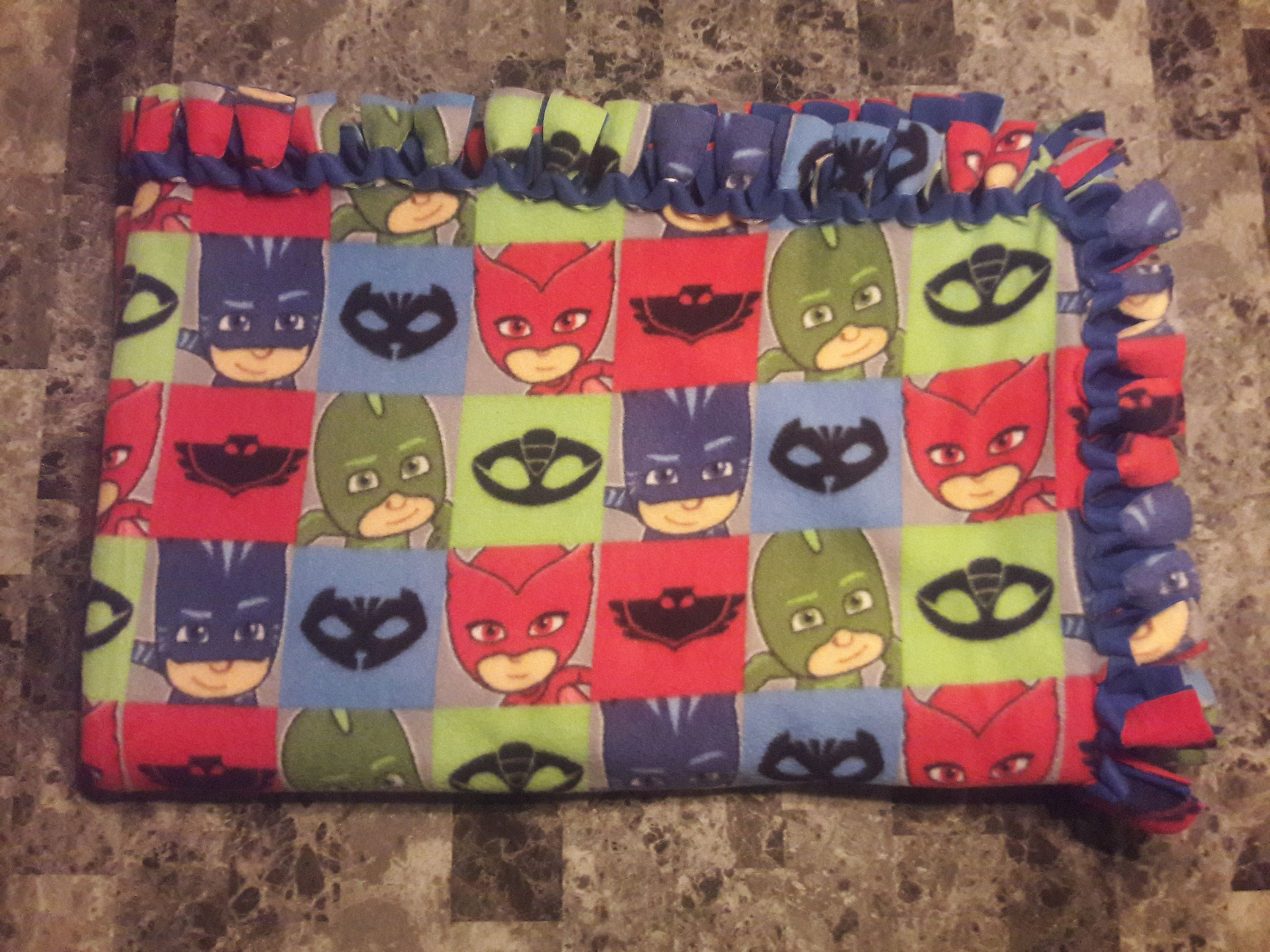 Pj masks nosew fleece throw blanket
